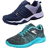 Earton Men Combo Pack of 2 Sports Running Shoe