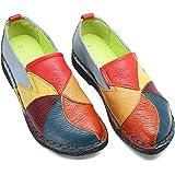 Socofy Mocassini da Donna, Mocassini in Pelle Donne Loafers Comode Slip On Scarpe Casual Shoes Comfort Pompe Espadrillas Scar