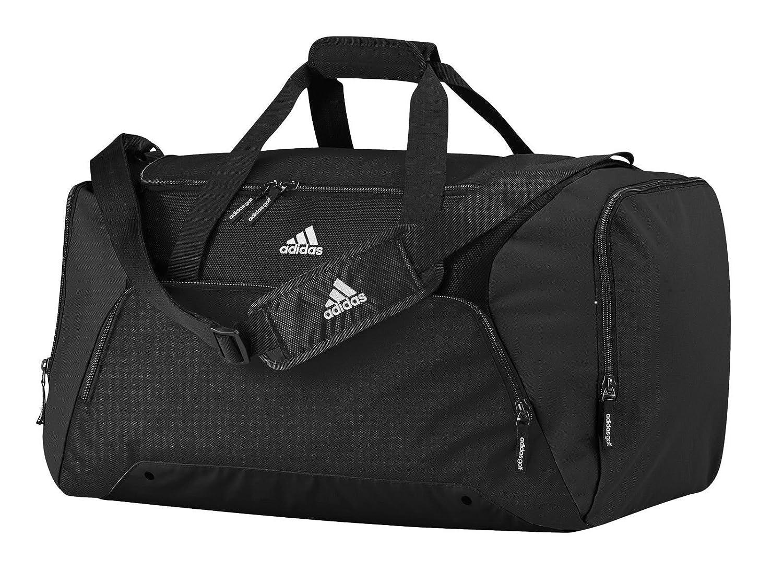 Adidas AD180BLAC 2015 Duffel Gym Bag Travel Holdall Black Medium Amazoncouk Sports Outdoors