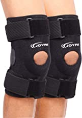 JoyFit - Knee Brace with Dual Side Stabilizer and Fastener Straps for Knee Support, Ligament Injuries, Arthritis, Patella, Pain, Osteoarthritis for Men and Women