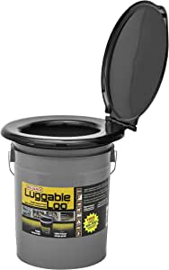 Reliance - Luggable Loo - 19 Liters - Black/Grey