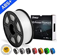 ABS Filaments for 3D Printer-SUNLU ABS Filament 1.75 mm,Low Odor Dimensional Accuracy +/- 0.02 mm 3D Printing Filament,2.2 L
