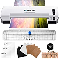 TOPELEK A4 Laminator, 5 in 1 Thermal Laminating Machine, 2 Roller Hot and Cold 400mm/min with 30 Laminating Pouches, 10 Photo Frame, Paper Cutter, Corner Rounder for Office, School, Menu, Card etc.