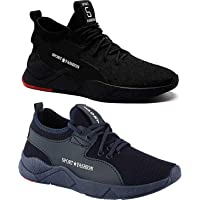 Maddy Combo Pack of 2 Sport Running Shoes & Gym Shoes for Men's