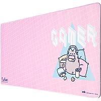 Tappetino per mouse da gioco XXL Pushee con base in gomma antiscivolo e con rifiniture di alta qualitá, 80x35 cm