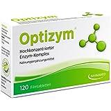 OPTIZYM Enzym-Komplex mit einzigartiger 6-fach Kombination (Papain, Bromelain, Pankreatin, Rutin, Trypsin und Chymotrypsin) Selbstheilungskräfte aktivieren - Enzyme Hochkonzentiert (120 Filmtabletten)