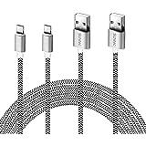 Micro USB Kabel, 2Pack 3M Micro USB Ladekabel USB 2.0 Nylon Geflochtenes High Speed Sync und Schnellladekabel für Samsung Galaxy Note,Nexus,HTC,LG,Nokia,Kindle und mehr Android Gerät (2Pack-3M)