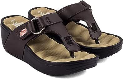 ADDA Women's Brown & Beige Flip-Flops - 4 UK