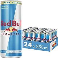 Red Bull Energy Drink Sugarfree Dosen Getränke Zuckerfrei 24er Palette, EINWEG (24 x 250 ml)