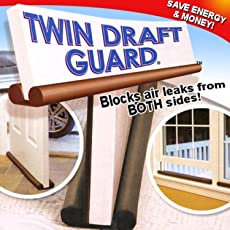BESTOW® You Twin Door Draft Guard. Stop Unwanted Light And Stop Escaping Of Cool Air From Air Conditioner Split Or Window