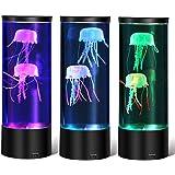 AONESY Kwallen lamp, lavalamp kwallen aquarium sfeerlamp, led fantasy desktop ronde kwallen lamp voor decoratie USB-opladen,
