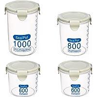 Keleily Boîte à Céréales,4Pièces Boîtes Hermétiques Alimentaires Boîtes de Conservation à Céréales Fruits Secs Boîte…