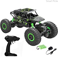 Smart Picks 1:18 Rechargeable 4Wd Rally Car Rock Crawling Remote Control Monster Truck (Green)