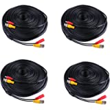 ANNKE 4X 150ft Video Power CCTV Cable For Security Camera System Surveillance DVR Kit Easy DIY Installation with BNC to…