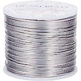 BENECREAT 150m 1mm Filo di Alluminio Articoli Artigianali Filo di Alluminio Colore Primario Non scolorente per la Produzione