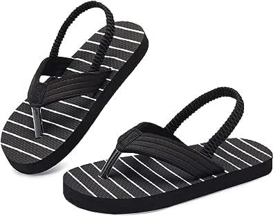 Kinghealth Toddler Flip Flops Girls & Boys Sandal Kids Flip Flop with Back Strap for Summer and Beach
