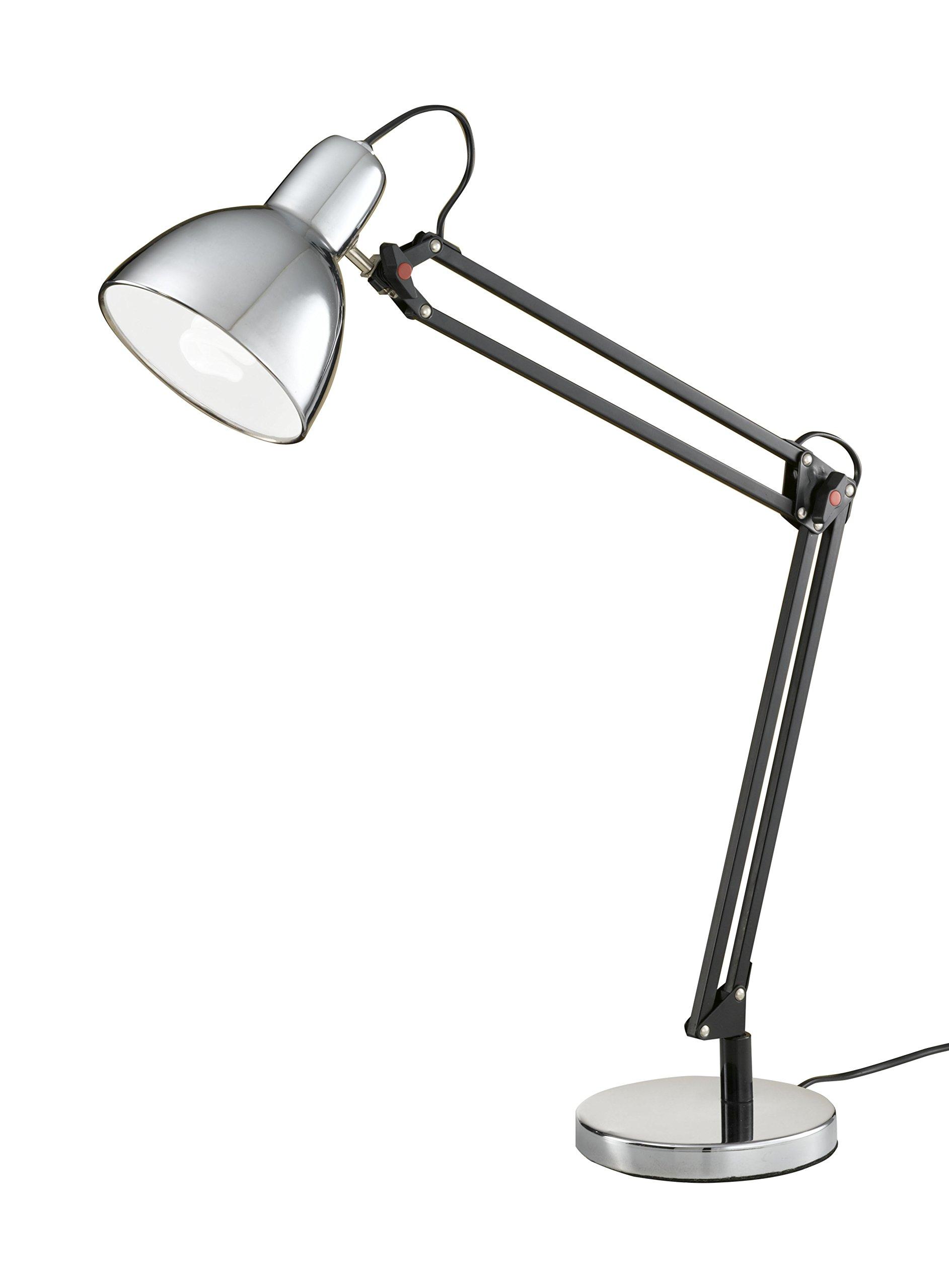 Fabas Luce 3015-30-138-Lampada da tavolo, in metallo cromato, 18 x 90 cm