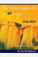 IB Mathematics SL in 80 pages: 2018-2019 Broché