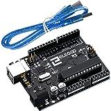 Elegoo UNO R3 Board Scheda ATmega328P ATMEGA16U2 con Cavo USB Compatibile con i progetti IDE di Arduino Conforme alla diretti