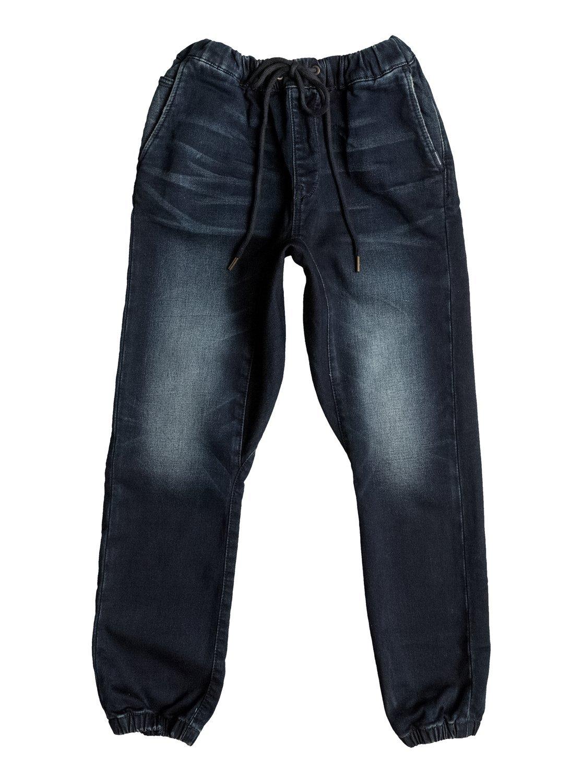 Quiksilver Fonic Dark Blue – Pantalón De Chandal Vaquero Corte Pitillo para Niños