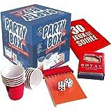 Original Party Box   30 Jeux de Soirée avec 30 Règles   Qualité Premium   10 Shooters   1 Jeu de Carte   2 Dés   1 Bloc…