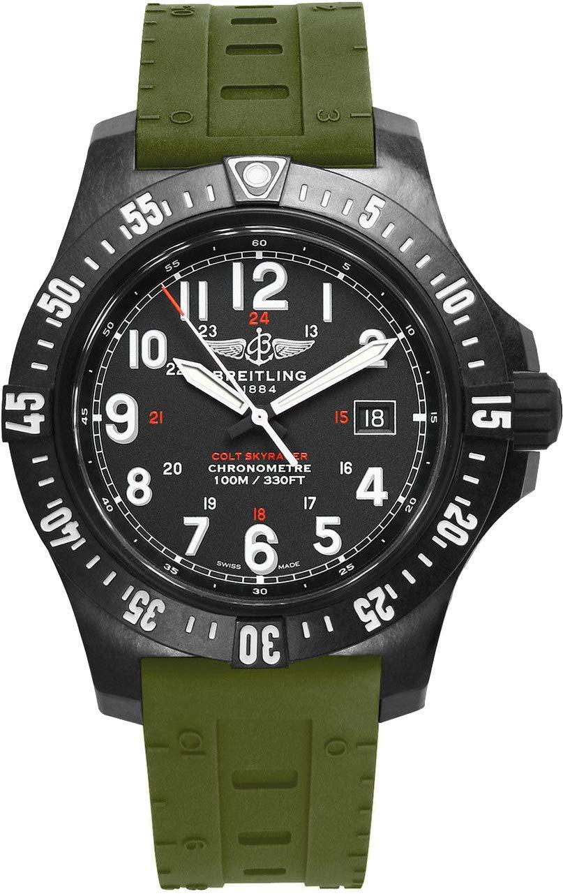 Breitling Colt SkyRacer - Reloj para Hombre con Correa de Goma Verde Skyracer X74320E4/BF87-298S 1