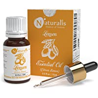 Naturalis Essence of Nature Cold Pressed Lemon Essential Oil 100% Pure, Natural & Undiluted Therapeutic Grade for Skin…