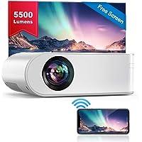 WiFi Beamer, YABER V2 Mini Beamer 5500 Lumen Unterstützt 1080P Full HD, HiFi-Sound, Projektor Kompatibel mit HDMI, SD…