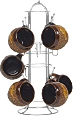 Parasnath Prime Stainless Steel Round Cup Stand 12 Cups Holder (Made in India)