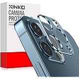 واقي عدسة الكاميرا من زينكو لهاتف ابل ايفون 12 برو ماكس، [عبوة من قطعتين] غطاء حلقي لعدسة الكاميرا، مادة معدنية عالية الجودة