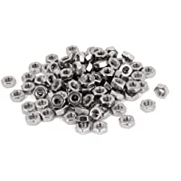 Filettatura femmina esagonale M4 Easycargo strumento di chiusura dado metallico argentato 100 pezzi