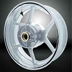 Stickman Vinyls Glänzend Schwarz Spiral Outer Rim Aufkleber Liner Stripe Kompatibel Mit Bmw F800r Auto