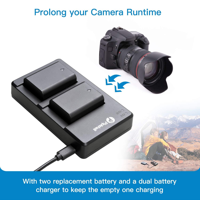 NEX 3//5//7 Series NP-FW50 2 Batterie di Ricambio con Doppio Caricatore Rapido a5100 a7 a6500 a6300 Set Caricabatteria della Fotocamera per sony Alpha a6000 Serie SLT-A e Altro a7 rii a6400