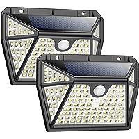 Solarlampen für Außen mit Bewegungsmelder【Superhelle 5 Seiten Beleuchtung-118 LED】Pxwaxpy Solar Bewegungsmelder Aussen…