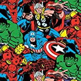 Springs Creative Marvel Comics Knit 59/152,4 cm breit 96%