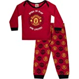 Manchester United Baby Pyjamas Long Boys Kids Official Football Gift