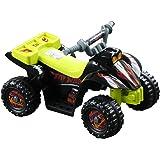 HOMCOM Quad Bateria 6V Moto Eléctrica Infantil Niños +18 Meses Velocidad 2'5 Km/h Carga Máx 20 Kg Sonido Luces Cargador Inclu