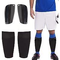 Football Shin Pads with Football Shin Guard Socks Sleeves, Soccer Shin Pads for Mens Kids Boys Girls, Double Layer Mesh…