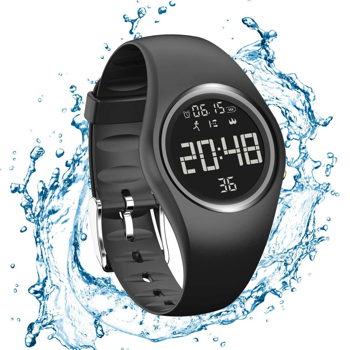 RCruning-EU Pulsera Actividad Impermeable IP68 Fitness Smartwatch Tracker Contador de Pasos, Contador de Calorías… 1