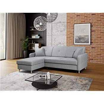 Topnotch Gama Mobler Left Corner Pull Out Sofa Bed Malmo with Storage JI88