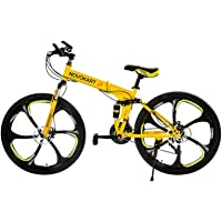 Novokart Vélo Pliable, Unisexe, Adulte, Jaune, 21 Stage Shift