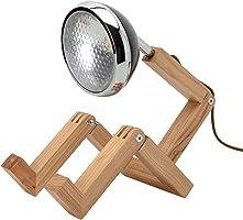 Neoly 34-2M-005 Lampe articulée Bonhomme LED Bois Mister woody Noir