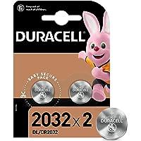 Duracell 2032 Pile bouton lithium 3V, lot de 2, avec Technologie Baby Secure, pour porte-clés, balances et dispositifs…