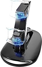 Tobo PS4 Controller Charger Dock Station Dual USB Charging Stand Kit With LED Indicator for Sony PlayStation 4 PS4 Slim PS4 Pro Controller, Black(TD-0102)