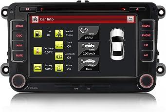 "iFreGo 7"" AUTORADIO Für VW Golf 5/6,Passat CC,Tiguan,Polo,Jetta,Skoda Fabia Combi dal,Skoda Octavia,Yeti, Seat Leon,VW Up,Touran,Candy, Sharan,Amarok,New Beetle 2,Scirocco,EOS, MIT 3G Wifi DVD GPS NAVIGATION NAVI USB SD BLUETOOTH Autoradio GPS Navi DVD USB MP3 CD Moniceiver Naviceiver mit GPS Navigation+NAVI Software inkl. Europa Karten +Micro-SD-Kartenslot + Dual USB Anschluss +Bluetooth+CANBUS + Dual Zone +Subwoofer+Doppel DIN/2 DIN inkl. GPS Antenne+ HD Kapazitiver Bildschirm+ 7 LED"