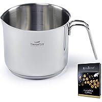 ROSMARINO Pot à Lait à Induction en Acier Inoxydable 1,5 ml - Convient pour les Plaques à Induction, Electriques…