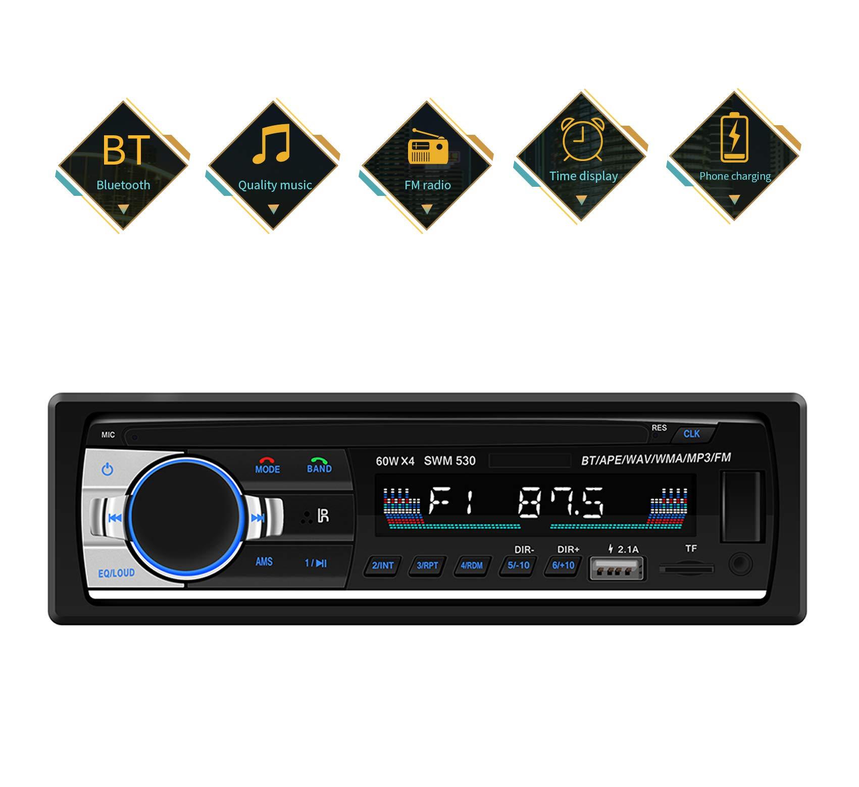 Autoradio-mit-Bluetooth-Freisprecheinrichtung-Auto-Radio-mit-Bluetooth-und-USB2AUXTFFMMP3-Player-Radio-1-DIN-Anschluss-Stereo-FM-Radio-mit-Fernbedienung