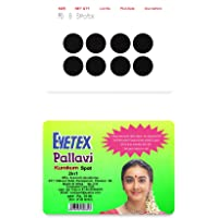 Eyetex Pallavi Sticker Kumkum, P0 - Black (Circle, Round) - 20 Flaps (Pottu, Bindi)