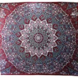 Psychedelic Tapestry hippie tapestry mandala tapestry wall hanging wall decor Indian Bedspread Throw Decor Art 94 x 85 Inches