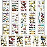 Angelliu 15 Stks Waterdichte Kinderen Tatoeages Sticker Creatieve Cartoon Speelgoed Auto Tijdelijke Decor Body Stickers